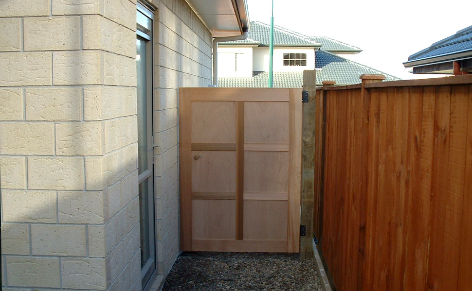 Cedar Plywood Gate